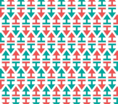 regularly: arrows red and green pattern regularly spaced evenly Stock Photo