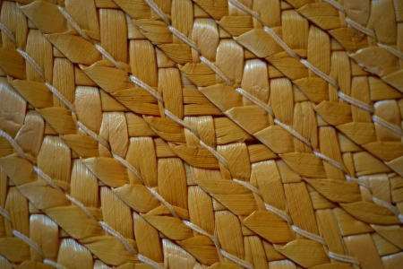boater: texture or pattern from boater yellow brown color Stock Photo