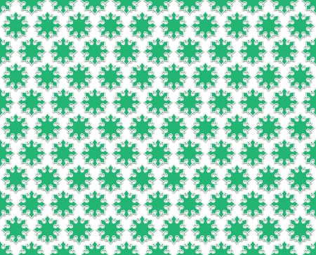flowered: Contour white background green flowered regularly spaced Stock Photo