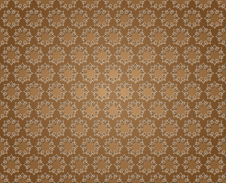 Floral abstract lines background brown color photo