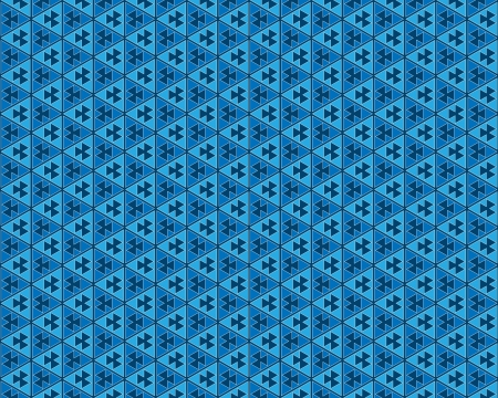 abstract background or texture blue and dark blue triangles Stock Photo