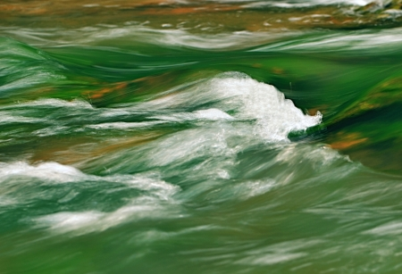 green river: background jade green river with rapids white Stock Photo
