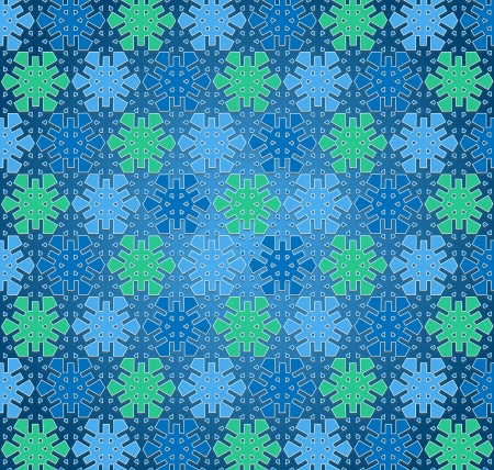 background winter snowflake pattern blue and green color photo