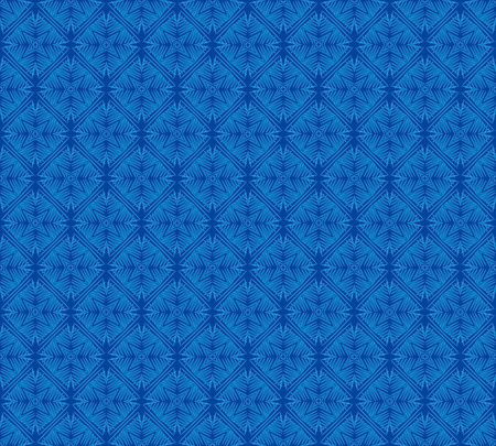 abstract blue linear Winter frosty snowflake pattern