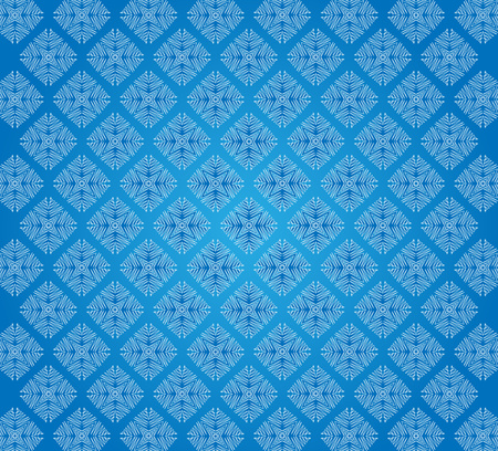 abstract white linear Winter frosty snowflake pattern Stock Photo