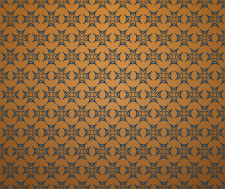 brown background or textile blue line medieval pattern Stock Photo