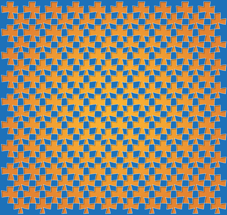 trapezoid: background or paper blue and orange abstract trapezoidal pattern