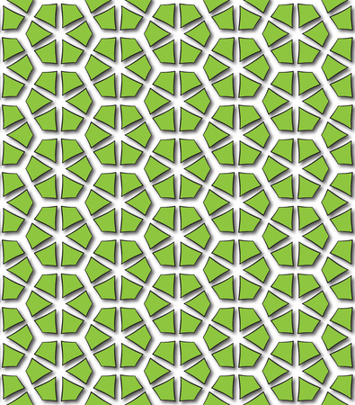 background or fabric hexagonal green abstract patterns Stock Photo