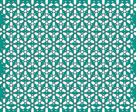 background or fabric emerald flower pattern Stock Photo