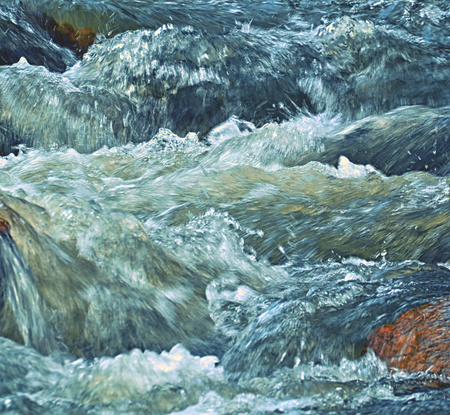 abstract background or texture whitewater rapids river