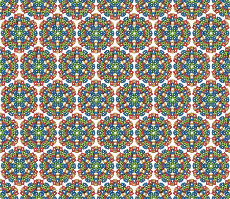 Fondo o el patrón mandala azteca abstracto tela Foto de archivo - 28140079