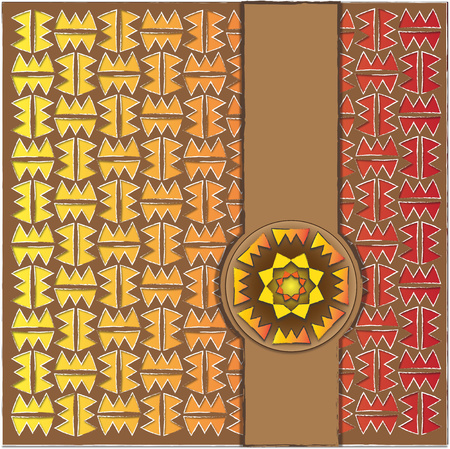 background or fabric inspired by the Mexican pattern Stock Photo