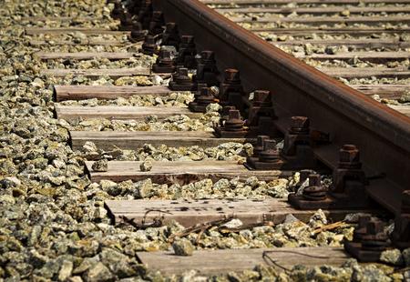 background detail rusty abandoned railway line Stock Photo