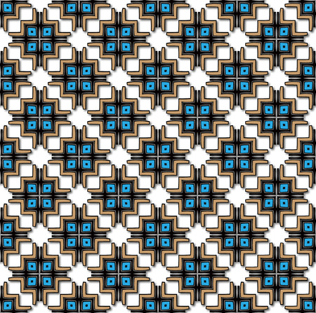 background or fabric Abstract inca cross pattern blue and brown color photo