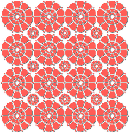 flowered: background or fabric or card red flowered pattern Stock Photo