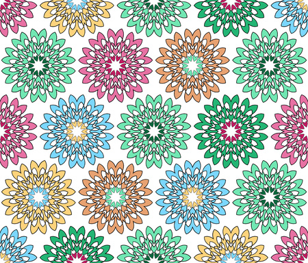 background or fabric abstract colorful flowered pattern