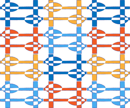 ellipse: background or fabric textile pattern abstract ellipse