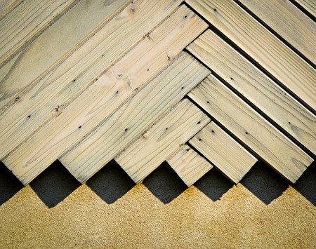 aslant: background or texture white wooden wall cladding in