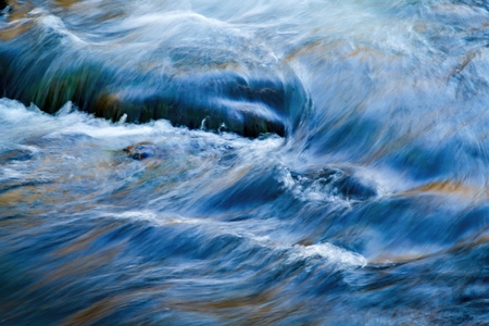 abstract background autumns water flows in the river