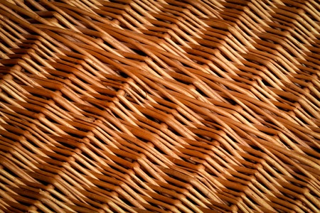 wickerwork: background or texture of wickerwork with light brown