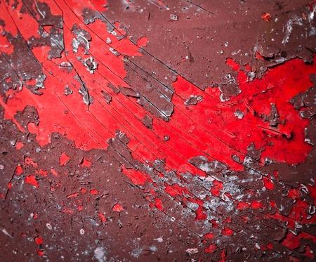 abstract background or texture Red damaged peeled paint