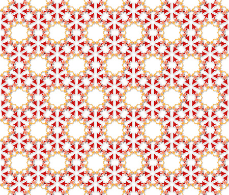mishmash: abstract background or fabric arrows flowers pattern