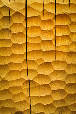gouged: abstract background or texture yellow Gouged wooden board