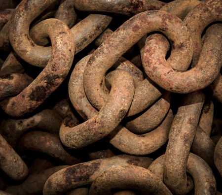 abstract background or texture metal rusty chains Stock Photo