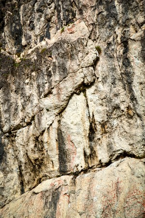 climbing wall: background or texture abstract limestone block