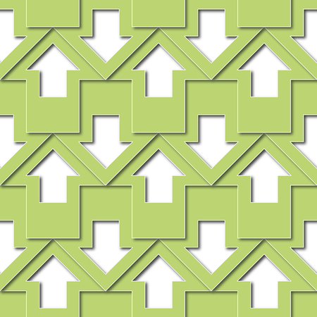 green arrows: abstract illustration background or texture green arrows pattern Stock Photo
