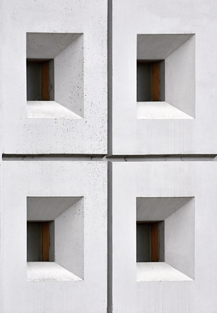 four texture: abstract background or texture white four square windows Stock Photo