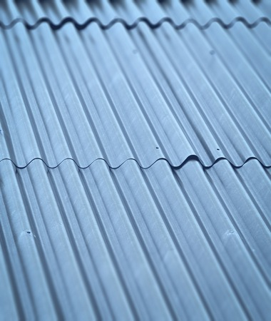 abstract background or texture blue blur corrugated iron roof