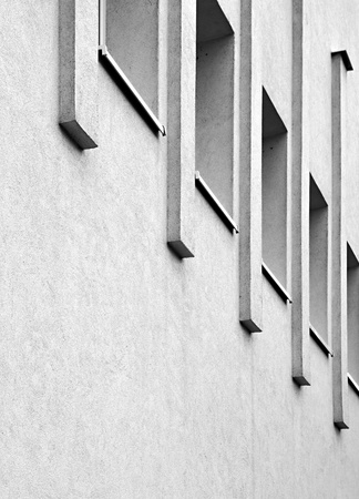 ledge: abstract background or texture white side wall with windows