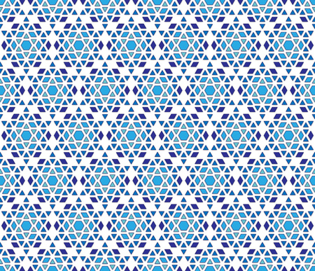 abstract background or textile hexagonal crystal snowflakes winter pattern