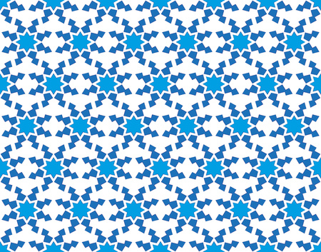 winter stylized: abstract background or winter pattern with stylized blue snowflakes Stock Photo