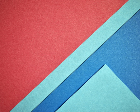 Abstract triangle background with red and blue color paper Stock Photo