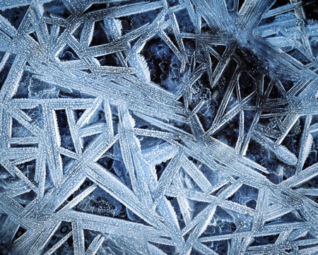 abstract winter background geometric shapes on the frozen water Stock Photo
