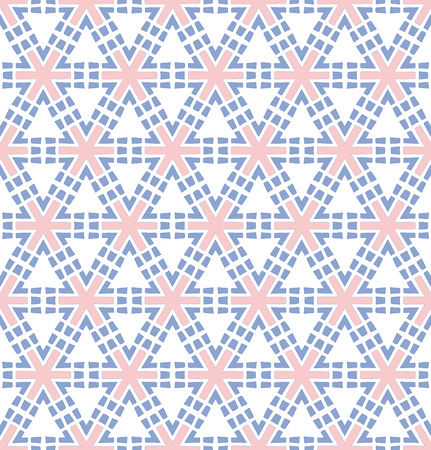 abstract background or paper pink blue hexagonal flower pattern Stock Photo