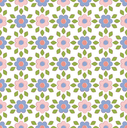 background or textile Spring floral pattern rose pink and serenity color