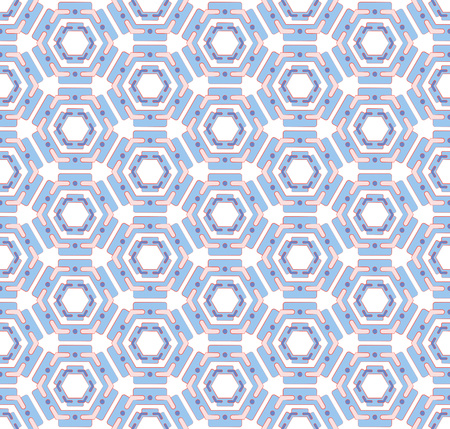 Abstract hexagonal background or pattern Blue Button