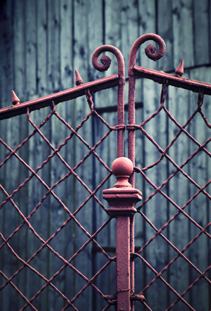 abstract background retro detail of an old iron fence