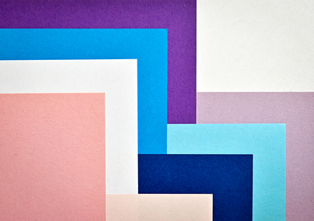 summaries: Abstract background with colored paper collage stairs