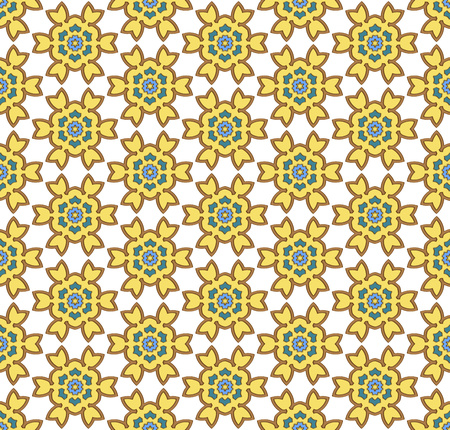 fabrick: background or fabrick yellow and green floral retro pattern