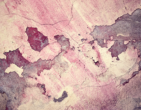 dingy: abstract background old dingy burgundy cracked plaster wall
