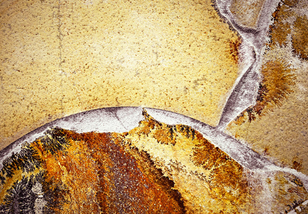 tile cladding: background or texture detail on abstract stone cladding Stock Photo