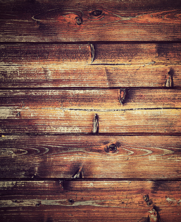 wood paneling: abstract background or texture retro horizontal wood paneling from boards Stock Photo
