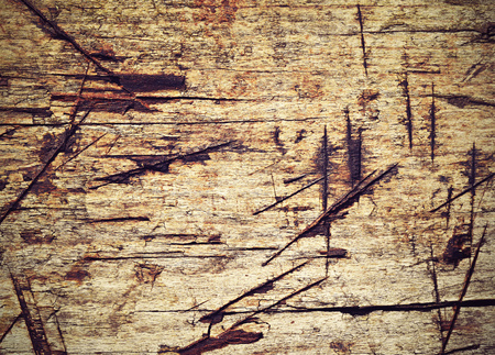 grooves: abstract background or texture for cuts grooves on old wood Stock Photo