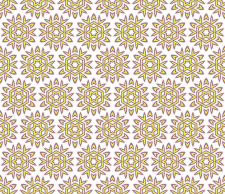 dusky: stylized floral textile pattern of yellow and dusky pink color Stock Photo