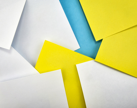abstract background background with small papers with arrow
