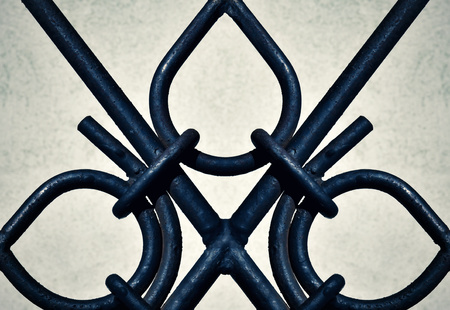 abstract background dark detail ornamental iron gates